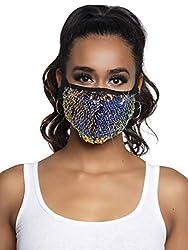 Multicolor Sequins & Rhinestone Fashionable Face Mask