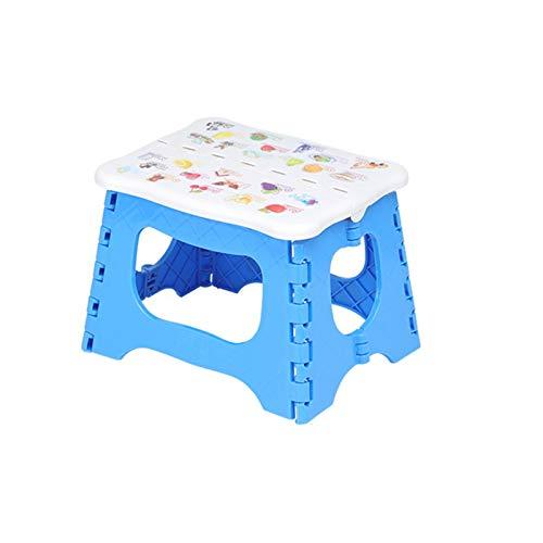 CBRCYGG Sgabello Pieghevole per Bambini, Piccolo Sgabello Pieghevole in plastica Portatile per Bambini e Adulti, Sgabello per Cucina, Bagno, Verde