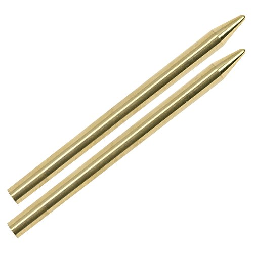 COM-FOUR® 2x roestvrijstalen paracord-naald, breinaald voor 550 paracord-banden, knutselnaald voor touwen (2 stuks - goudkleurig)