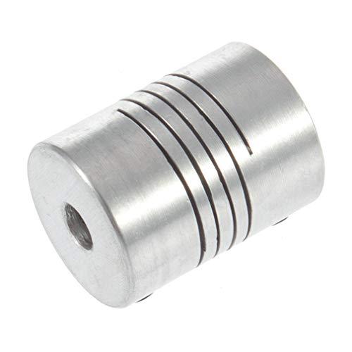 Nrew 5x8 mm Motor Jaw Shaft Coupler 5mm To 8mm Flexible Coupling OD 19x25mm 3D Printer Stepper, Motor, Flexible Coupling, Coupler Shaft Couplings, 5mm*8mm*25mm Silver