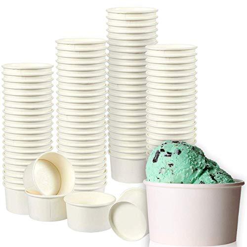 TARRINAS PARA HELADOEl juego incluye 100piezas de tarrinas de papel ideal para heladerías, kioskos, restaurantes, food trucks y panaderías. APTAS PARA COMIDA:Hechas de papel resistente, sin BPA, apto para uso alimentario. Desechables para facilitar ...