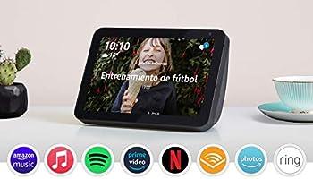 Echo Show 8: mantén el contacto con la ayuda de Alexa, tela de color antracita
