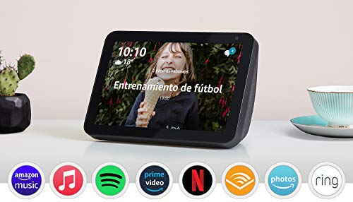 Echo Show 8: con Alexa, tela de color antracita