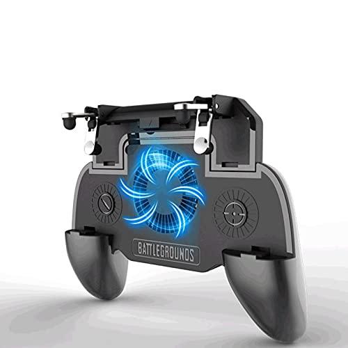 Oluote Controlador de Juego Móvil,Mando para Movil PUBG,PUBG Mobile Game Controller con Ventilador de Enfriamiento para Android y iOS de 4.7 a 6.5 Pulgadas.