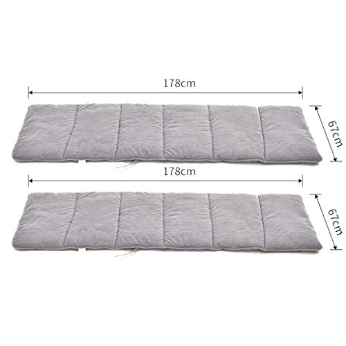 HEJINXL Cojín para Tumbona Sun Lounger Cushions Otoño Invierno Engrosados Cojín Reclinable Matt Core Algodón Universal Tejido Cepillado Cojín Sofá Cojín Conjunto Gris (Color : B, Size : 178x67cm)