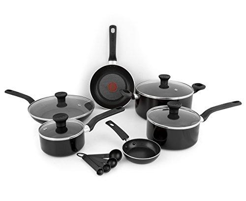 Tefal 7PC EXCITE NON-STICK POT PAN FRYPAN SAUCEPAN FRYING COOKWARE SET BLACK, Silicone