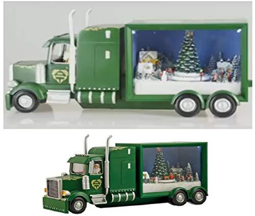 Carillon Camion Di Babbo Natale Con Treno Trenino E Albero Che Gira Con 8 Diverse Melodie LUCI LED 53050