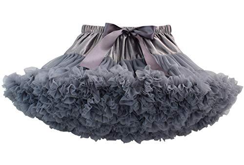 Happy Cherry - Falda de Tutú para Bebés de Princesa Vestido de Tul de Capas de Volantes con Cinta de Bowknot para Danza Boda Fiesta Partido Disfraz para Infantiles Niña de 0-2 Años - Rosado