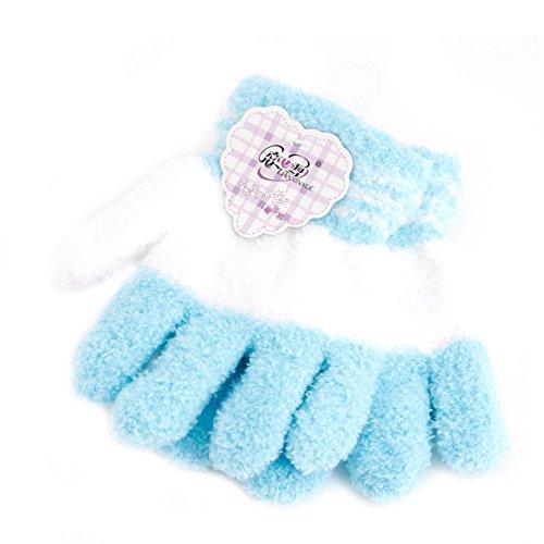 Tcn Cute Baby Infant Toddler Warm Full Finger, Rainbow Knit Mitones Guantes de Invierno para niños pequeños