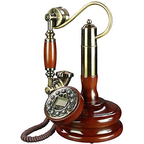 ZARTPMO Teléfono Fijo Fijo Teléfono Antiguo Botón De Candelabro Teléfono con Identificación De Llamada, Teléfono Retro con Cable Teléfonos Decorativos Vintage