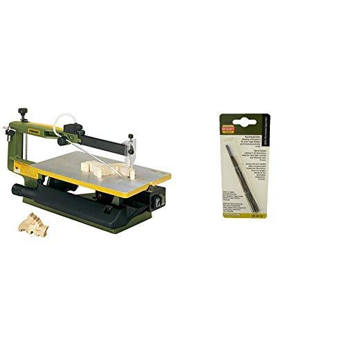 Proxxon 27094 Dekupiersäge 2-Gang DS 460 & 28747 Rundsägeblatt, 130 mm. Mit flachen Enden (ohne Querstift), 12 Stück