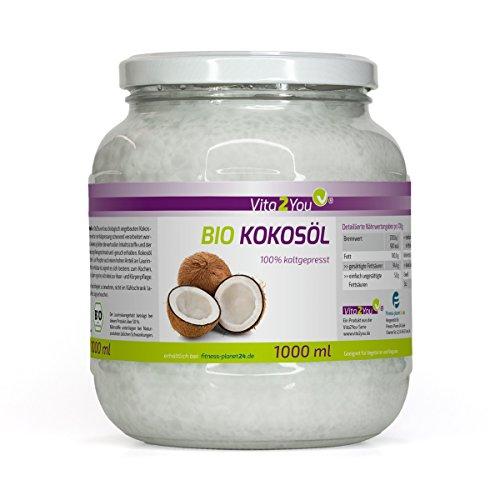 BIO Kokosöl Nativ 1000ml - kaltgepresst und naturbelassen aus ökologischen Anbau - Sri Lanka - Premium Qualität