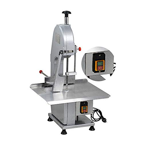 TFCFL Commercial Electric Bone Cutting Machine Frozen Meat Steak Cutting Machine Cutter Heavy Duty Frozen Meat Frozen Fish Steak Cutting Stainless Steel for Home Kitchen Cutting Bone/Ribs/Frozen Meat