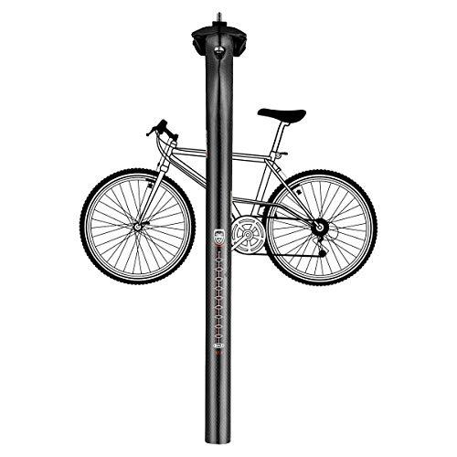 Lidauto A04, zadelpen voor fiets, mountainbike, om op te hangen, carbon, 27,2 mm, 30,8 mm, 31,6 mm x 350 mm
