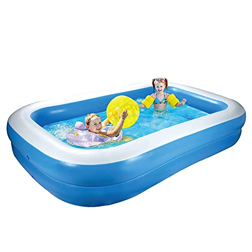 """Inflatable Pool,98""""X 65""""X 20"""" Large Size Swimming Pool Garden Inflatable Swimming Pool for Adults and Kids Family Lounge Pool Indoors and Outdoors Best Inflatable Pool Back Yard Summer"""
