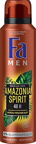 Fa Men Amazonia Spirit Brazilian Vibes - Desodorante en spray para hombre, 6 unidades (150 mililitros)