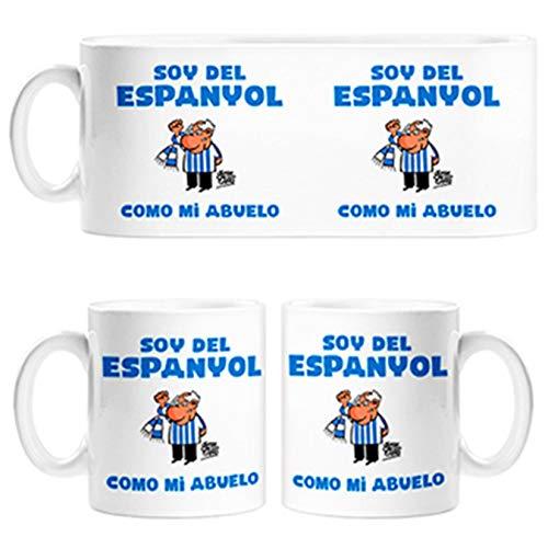 Diver Tazas Taza Soy del Espanyol como mi Abuelo ilustrado por Jorge Crespo Cano - Cerámica
