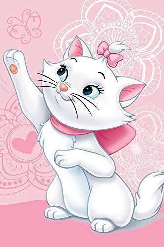 Marie Cat Disney Aristocats Fleecedecke Schmusedecke Kuscheldecke 100 x 150 cm