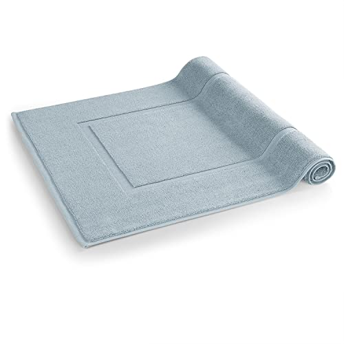 Blumtal - Tapis De Salle De Bain 51x79 cm - Lot de 2 - Tapis De Bain Bleu Clair - Tapis De Douche Absorbant Et Doux - 100% Coton - Certifié Oeko-Tex