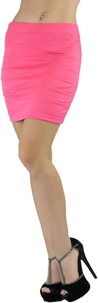 ToBeInStyle Women's Polyester Blend Bandage Mini Pencil Skirt
