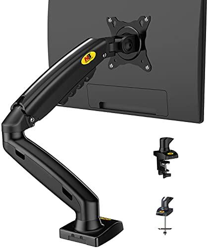 NB North Bayou 17-27 Pulgada El Soporte Ajustable para Monitor Soporte Profesional del Monitor Brazo Escritorio Monitor Soporte Escritorio Girar Libremente con Dos Puertos USB (17' -27' F80)