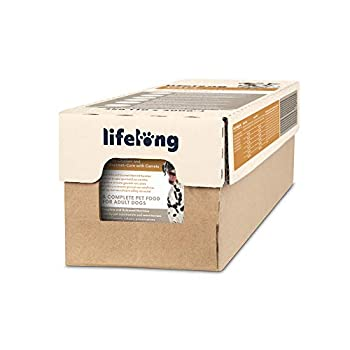 Marque Amazon - Lifelong Dog Food - Pâté au poulet avec un fourrage gourmand aux carottes, 10 unités x 300g