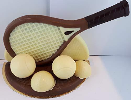 02#071221 Schokoladen Tennis Set, 2 versch. Modelle möglich, Tennis, Tennisspieler, Muttertag, Geburtstag, Geschenke, Geschenk, NEU