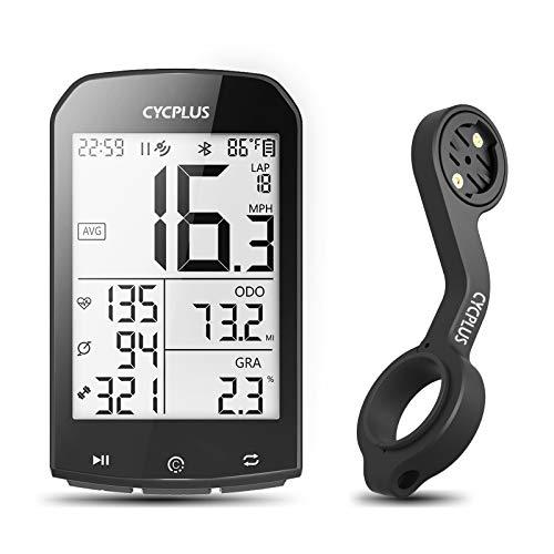 CYCPLUS GPS Fahrradcomputer und Halterung, wasserdichte Fahrradtacho und Kilometerzähler, ANT+ Drahtloser Radcomputer Z2 Lenkerhalterung