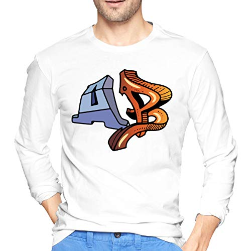 Graffiti Word AB Men's T-shirt Band Shirt Fashion Retro Music Crew Neck Tee