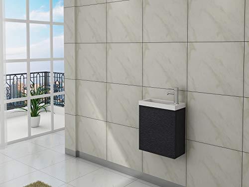 altone WC wastafel 44 cm wastafel met onderkast zwart