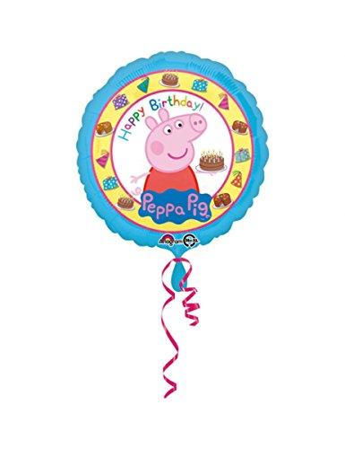 Ballon aluminium Happy Birthday Peppa Pig 43 cm - taille - Taille Unique - 239182