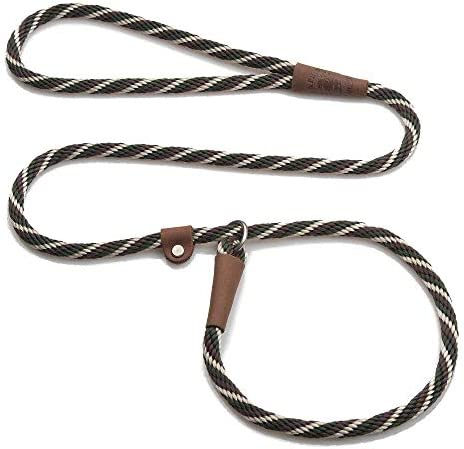 Mendota Pet Slip Leash Dog Lead and Collar Combo Made in The USA Woodlands 3 8 in x 6 ft for product image
