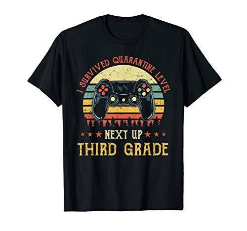 Vintage I Survived Quarantine Level Next Up 3rd Third Grade T-Shirt