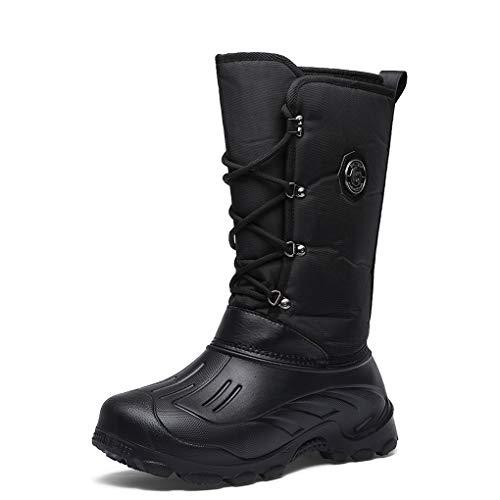 Calientes Botas Militares Hombre Invierno Botas de Senderismo Forro Piel Zapatillas de Trail Cordones Impermeables para Trekking Trabajos Aire Libre