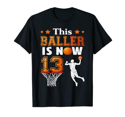 Regalos de cumpleaños 13 Este Baller es ahora 13 Baloncesto Camiseta