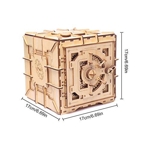 rosemaryrose 3D Puzzle Holzpuzzle Puzzle Erwachsene Bausatz -Innovative Holzpuzzle Schatz - Box Mädchen Aufbewahrungsbox Schmuckschatulle