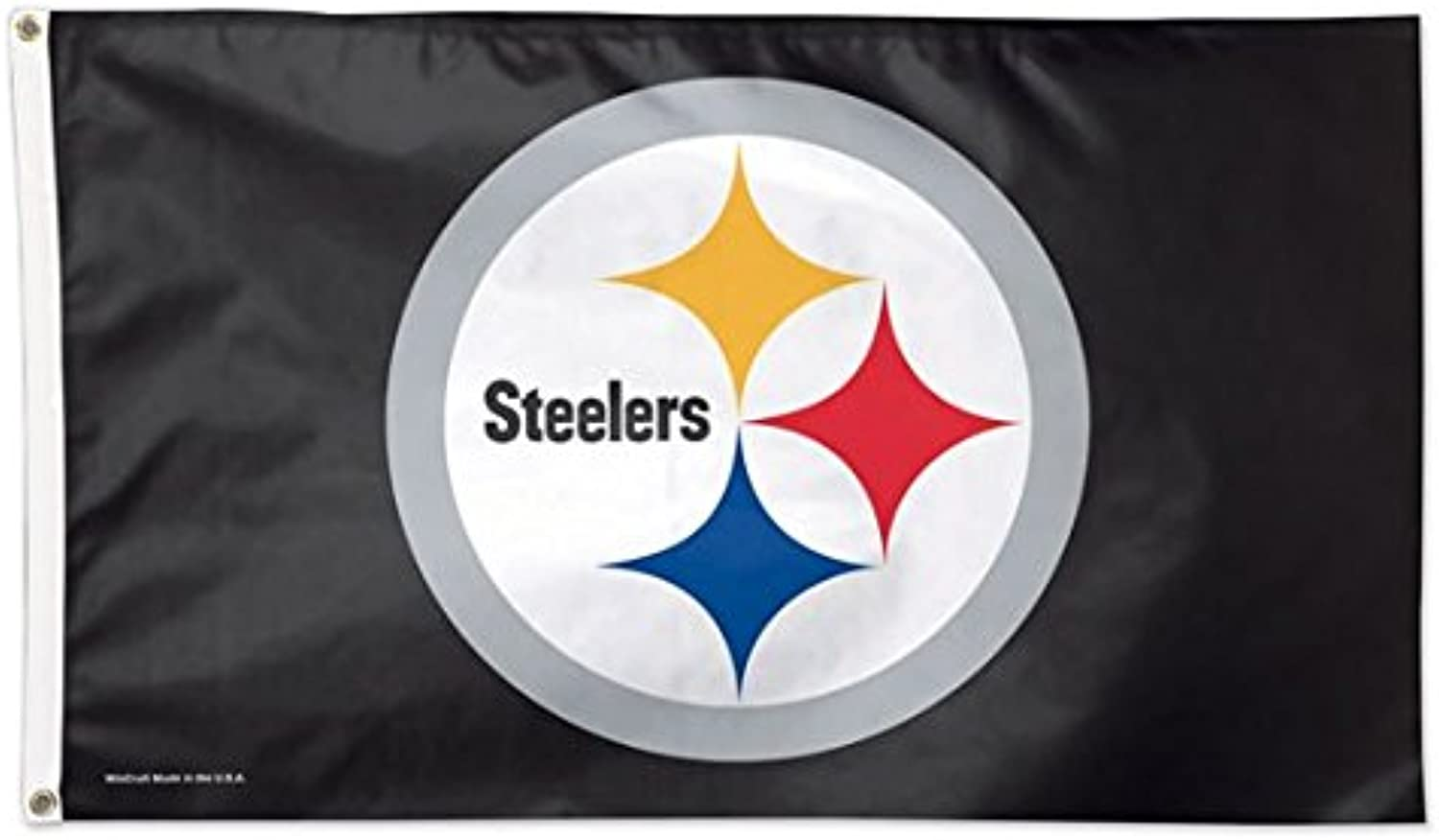 Wincraft NFL Pittsburgh Steelers 01822115 Deluxe Flag, 3Feetx5Feet