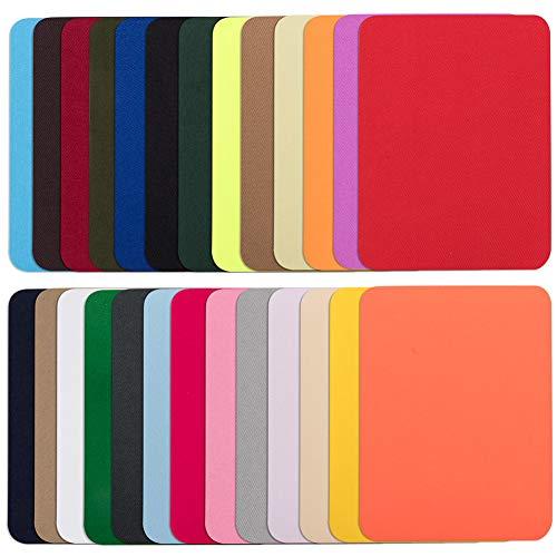 Jeans-Flicken zum Aufbügeln, 26 Farben, ohne Nähen, Reparatur-Set für Jeans, DIY-Dekoration, 12,7 x 9,7 cm, Stoffapplikationen zum Basteln, Nähen, für Kinder, Mädchen, Jacken