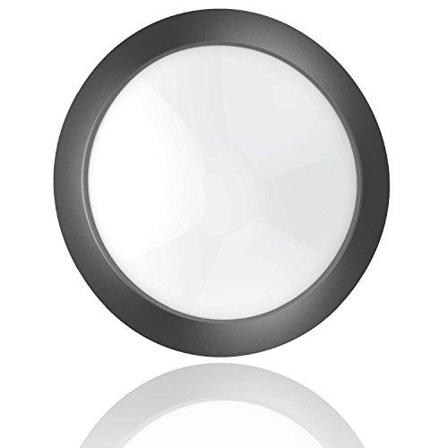 roblan ledfplfr8wf Applique Plafonnier, 8 W, noir