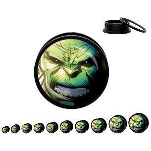 BUZZ Incredible Hulk Acrylic Screw Fit Plugs