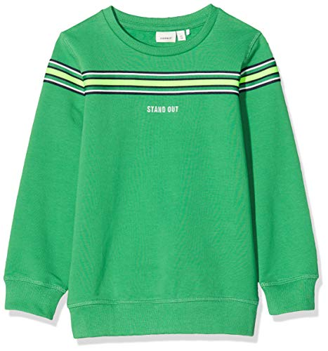 NAME IT Jungen NMMTONY LS Sweat BRU Sweatshirts, Grün (Leprechaun), 110