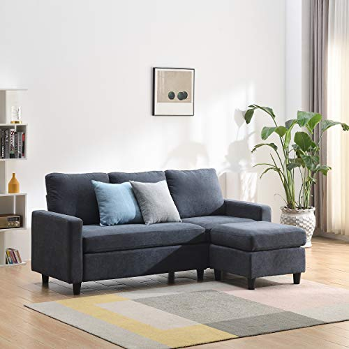 Cherry Tree Furniture Campbell 3-Seater Sofa with Reversible Chaise (Dark Grey)