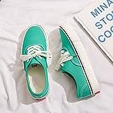 QSLS Unisexe Zapatos Planos de Viaje Zapatillas de Lona Zapatillas Deportivas Zapatos de Verano y Primavera,Lake Green,43