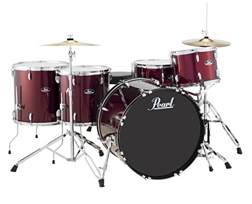 Pearl Roadshow 5-Piece Drum Set, Charcoal Metallic (RS525WFC/C706)