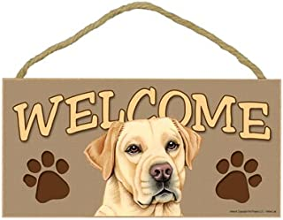 SJT ENTERPRISES, INC. Yellow Lab Welcome Sign 5