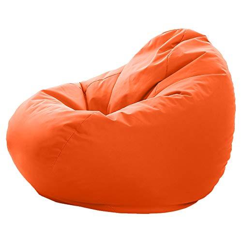 GlueckBean Gamer - Pouf a Forma di Pera, Misura XXXL XXL, per Interni ed Esterni, con Imbottitura in polistirolo EPS, Orange, XXXL-420