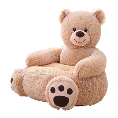 YUEHAPPY Peluche Plegable Para Niños Sofá Silla De Respaldo Lindo Dibujos Animados Animal Asientos Dulces Bolso Frijol Sillón Para Sala De Juegos Dormitorio,Teddy bear