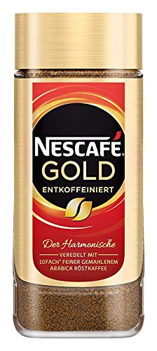 NESCAFÉ GOLD Entkoffeiniert, löslicher Bohnenkaffee aus erlesenen Kaffeebohnen, ohne Koffein, vollmundig & aromatisch, 1er Pack (1 x 200g)