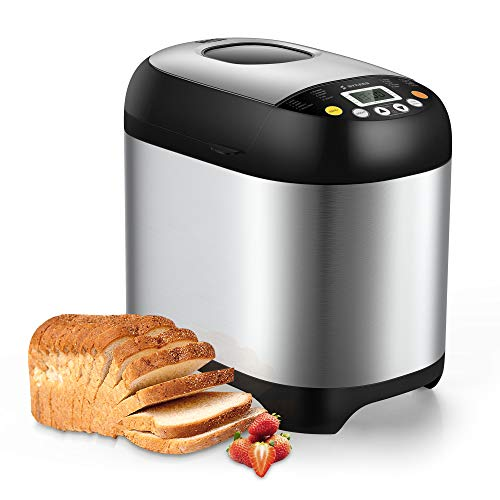 SYCEES Automatic Digital Bread Machine - 2LB Bread...