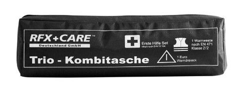 RFX + Care EH0010 TRIO Kombitasche schwarz, Erste Hilfe nach DIN 13164 + Warndreieck ECE + Warnweste EN 471 - Nicht mehr hergestellt
